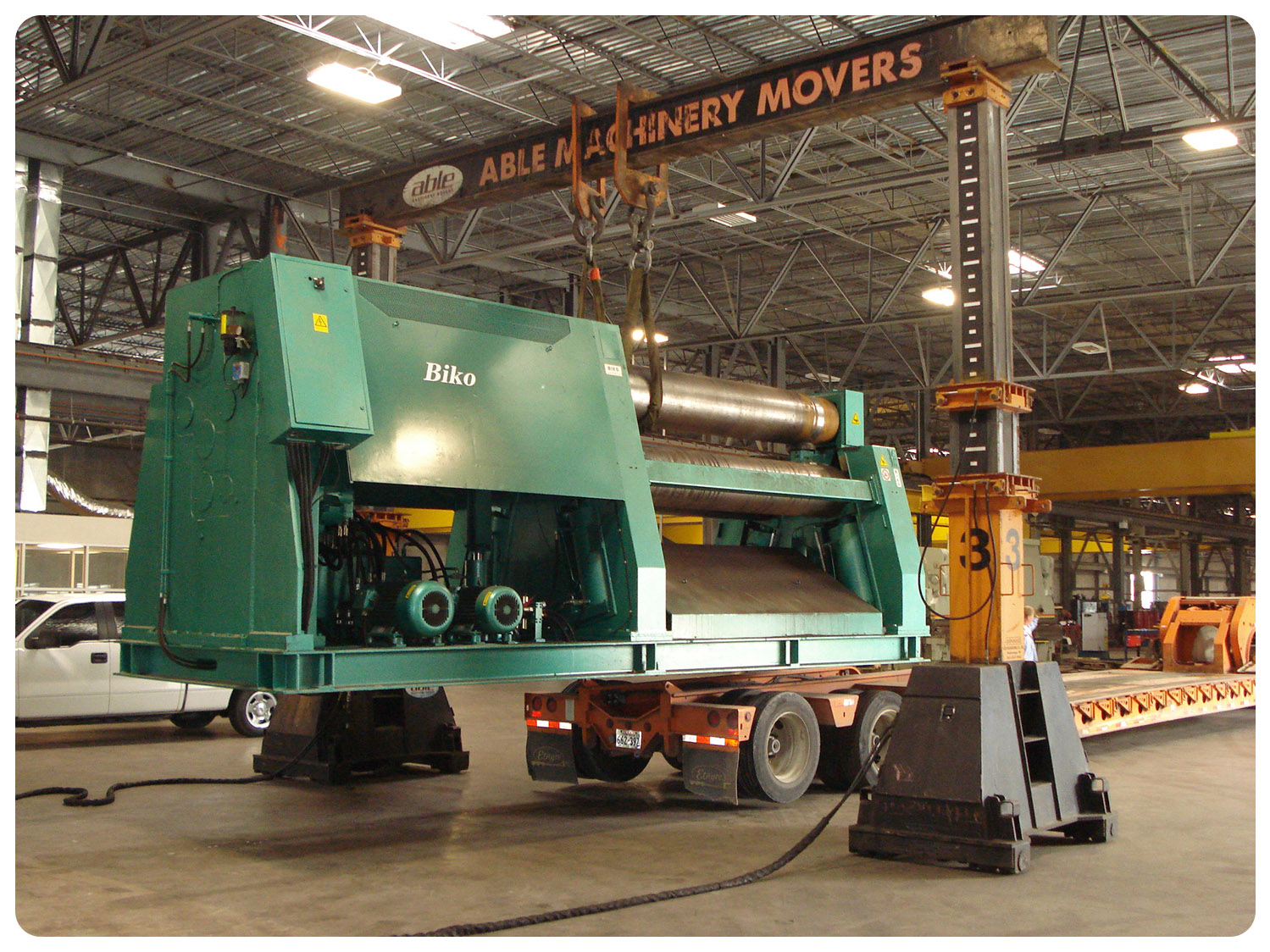 Heavy Machine Rigging - Able Machinery Movers